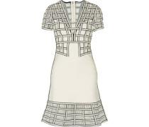 Tamera tulle-paneled flared bandage mini dress
