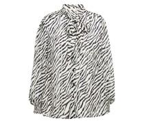 Hemd aus Jacquard mit Zebraprint und Schluppe in Metallic-optik