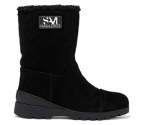 Kaylie Faux Shearling-lined Suede Boots