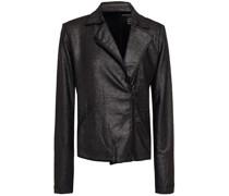 Jacke aus Stretch-jersey mit Metallic-effekt