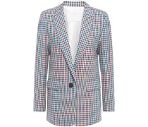 Elia Houndstooth Cotton Blazer