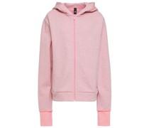 Mélange Cotton-blend Jersey Hoodie