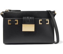 Kami Snake-effect And Pebbled-leather Shoulder Bag Black Size --