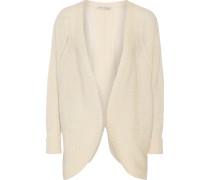 Open-knit Cashmere Cardigan Creme