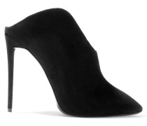 Olinda Cutout Suede Ankle Boots Schwarz