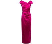 Roya Ruched Duchesse Satin Dress