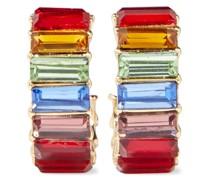 18 Kt. Vergoldete Creolen mit Kristallen