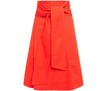 Cotton-poplin Wrap Skirt