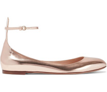 Tango Metallic Leather Ballet Flats