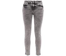Woman Optimism Acid-wash Mid-rise Skinny Jeans Anthracite