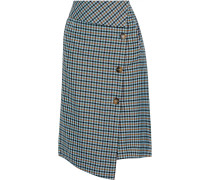Sonja Checked Twill Wrap Skirt