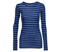 Striped Pima Cotton Top Blau