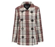 Checked Bouclé Coat Elfenbein