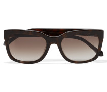 Square-frame Acetate Sunglasses Dunkelbraun