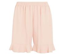 Contessa ruffled stretch-crepe shorts