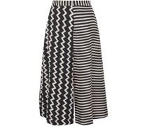 Jaycee Paneled Striped Silk-jacquard Culottes