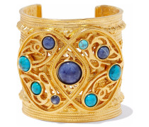 24-karat -plated, Turquoise And Sodalite Cuff