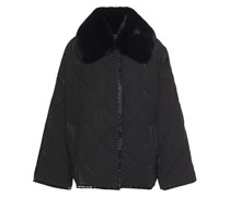 Marlene Faux Fur-trimmed Quilted Shell Jacket