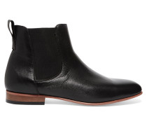 Troy Leather Ankle Boots Schwarz