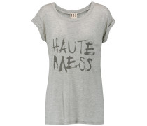 Printed Modal-jersey T-shirt Hellgrau