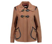 Francoise Wool-blend Felt Coat Braun