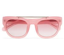 + Linda Farrow D-frame Acetate Sunglasses Pastellrosa