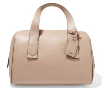Textured-leather Tote Beige