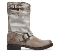 Veronica Shortie Distressed Leather Boots Champignon
