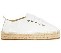 Hamptons Espadrille-sneakers aus Lackleder