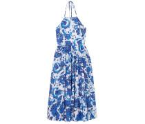 Gretta Gathered Floral-print Cotton-blend Mousseline Halterneck Dress