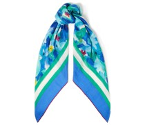 Floral-print Cashmere And Silk-blend Scarf