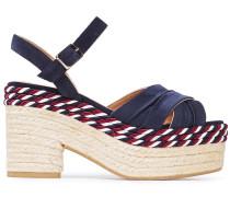Xiqui Suede And Satin Espadrille Platform Sandals