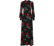 Carnation Floral-print Crepe Maxi Dress