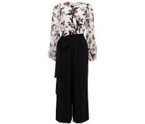 Wrap-effect Floral-print Silk Crepe De Chine And Georgette Jumpsuit