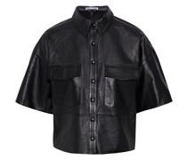 Dylan Cropped Hemd aus Leder