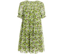 Rika Gestuftes Minikleid aus Georgette mit Floralem Print