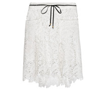 Joelle Cotton-guipure Lace Shorts Wollweiß