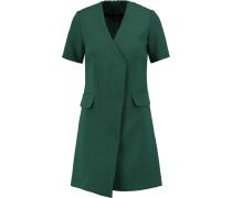 Reinelle Crepe-blend Mini Dress Smaragdgrün