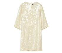 Kleid aus Georgette mit Pailletten