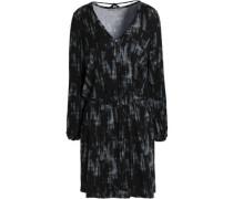 Printed modal-blend mini dress