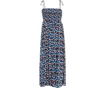 Clemence Shirred Printed Woven Dress