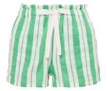 Doro Shorts aus Gaze aus Einer Baumwollmischung mit Streifen