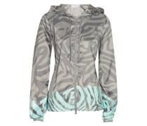 Travel Pack zebra-print shell jacket