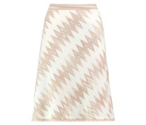 Fringed wool-blend skirt