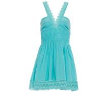 Laila Crocheted Lace-trimmed Cotton-blend Gauze Mini Dress