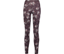 Printed Stretch-jersey Leggings Mehrfarbig