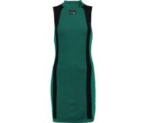 Paneled cotton-knit mini dress