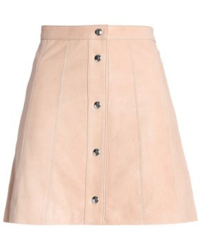Leather Mini Skirt Beige Size 00