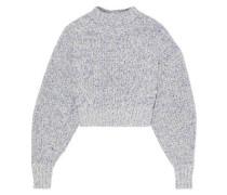 Woman Bowie Ribbed Mélange Cotton-blend Sweater Blue