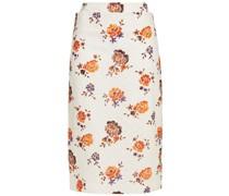 Floral-print Lace Pencil Skirt